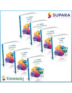 Supara 11. Sınıf Tüm Dersler Soru Bankası Kampanyalı Set (7 Kitap)