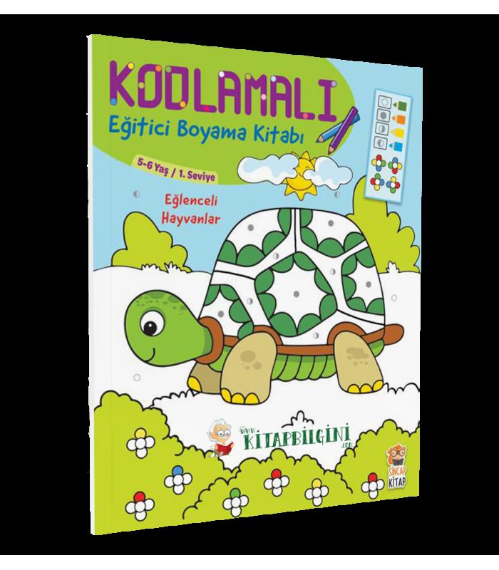 Kodlamali Egitici Boyama Kitabi Eglenceli Hayvanlar Sincap Kitap