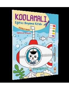 Kodlamalı Eğitici Boyama Kitabı - Eğlenceli Araçlar - Sincap Kitap