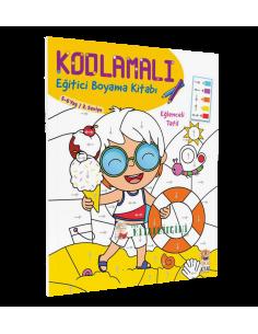 Kodlamalı Eğitici Boyama Kitabı - Eğlenceli Tatil  - Sincap Kitap