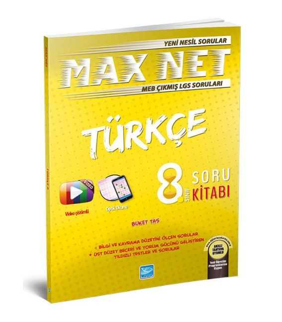 Koza Karaca Yayınları 8. Sınıf Türkçe Max Net Soru Kitabı