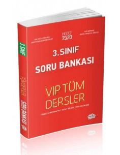 Editör 3. Sınıf VIP Tüm Dersler Soru Bankası Kırmızı Kitap