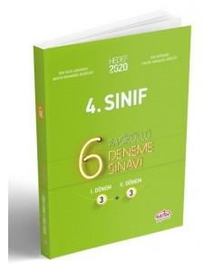 Editör Yayınları 4.Sınıf 6 Deneme Sınavı (Fasiküllü)