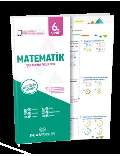 Puan Yayınları 6.Sınıf Matematik Çek Kopart Akıllı Test