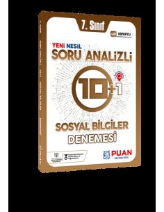 Puan Yayınları 7. Sınıf Sosyal Bilgiler Soru Analizli 10+1 Deneme