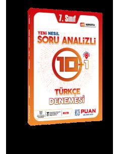 Puan Yayınları 7. Sınıf Türkçe Soru Analizli 10+1 Deneme