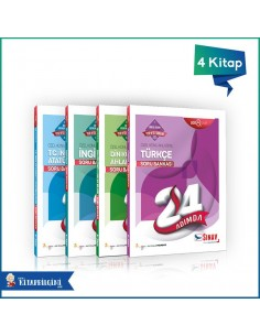 Sınav Yayınları LGS Sözel 24 Adımda Soru Bankası Kazandıran Set (4 Kitap)