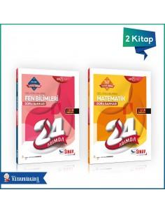 Sınav Yayınları LGS Sayısal 24 Adımda Soru Bankası Kazandıran Set (2 Kitap)