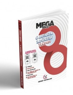 Cevap Yayınları 8. Sınıf Mega Sekiz 6 Adımda 1. Dönem Tekrarı