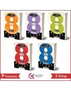 Cevap Yayınları 8. Sınıf LGS MEGA 8 Soru Bankası Tam Set (5 Kitap)