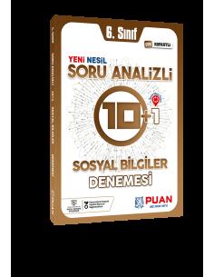 Puan Yayınları 6. Sınıf Sosyal Bilgiler Soru Analizli 10+1 Deneme