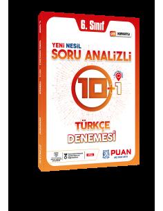 Puan Yayınları 6. Sınıf Türkçe Soru Analizli 10+1 Deneme