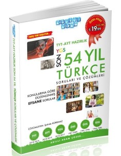 Akıllı Adam TYT AYT Son 54 Yıl Türkçe Çıkmış Sorular ve Çözümleri