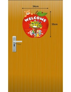 Mudu Welcome Door Poster (Apple Themed)