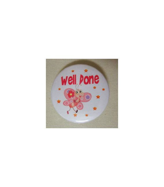 Mudu Well Done Badge (Butterfly) 37 mm