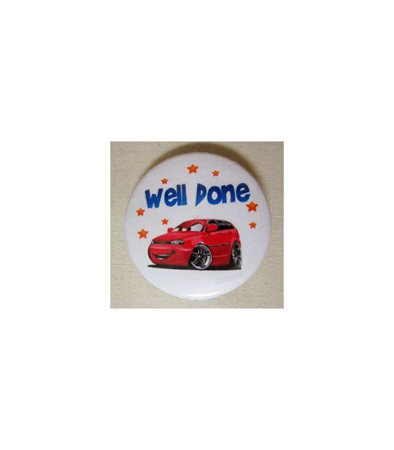 Mudu Well Done Badge (Car) 37 mm
