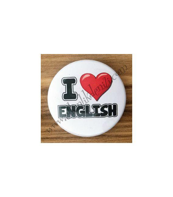 Mudu I Love English Badge 37 mm