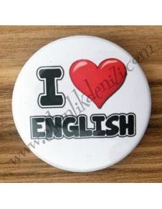 Mudu I Love English Badge 44 mm