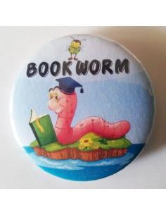 Mudu Bookworm Badge 44 mm