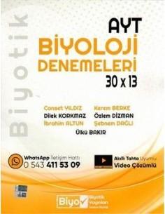 Biyotik Yayınları AYT Biyoloji 30 x 13 Denemeleri