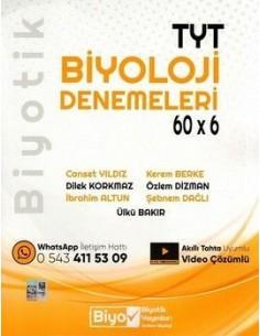 Biyotik Yayınları TYT Biyoloji 60 x 6 Denemeleri