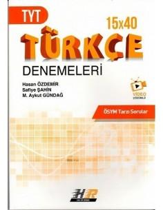 Hız ve Renk Yayınları TYT Türkçe 15 x 40 Denemeleri