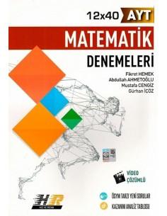 Hız ve Renk Yayınları AYT Matematik 12x40 Denemeleri