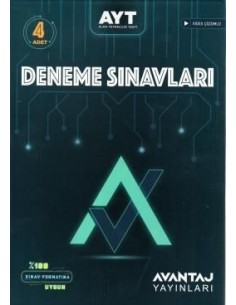 Avantaj Yayınları AYT 4'lü Deneme Sınavı
