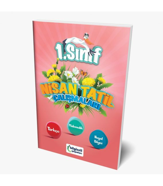 Bilgiseli Yayınları 1. Sınıf Nisan Tatil Çalışmaları Kitabı