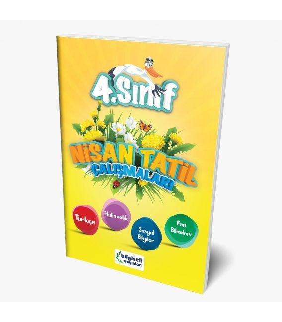 Bilgiseli Yayınları 4. Sınıf Nisan Tatil Çalışmaları Kitabı