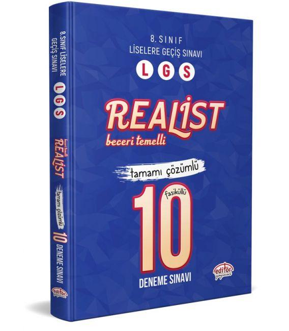 Editör Yayınları 8. Sınıf LGS Realist 10 Deneme Sınavı