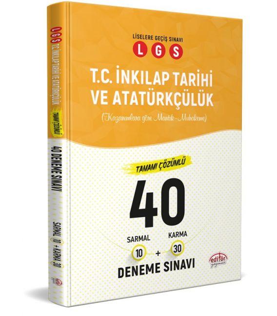 Editör Yayınları 8. Sınıf LGS T.C İnkılap Tarihi 40 Deneme Sınavı