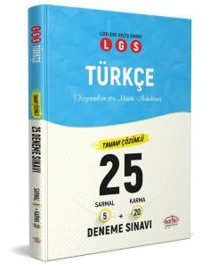Editör Yayınları 8. Sınıf LGS Türkçe 25 Deneme Sınavı