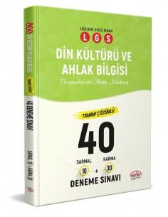 Editör Yayınları 8. Sınıf LGS Din Kültürü 40 Deneme Sınavı