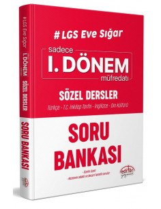 Editör LGS Eve Sığar 1. Dönem Sözel Dersler Soru Bankası
