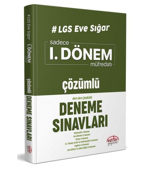 Editör LGS Eve Sığar 1. Dönem Çözümlü Deneme Sınavları