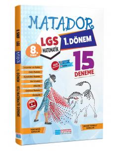 Evrensel İletişim 8. Sınıf LGS 1.Dönem Matematik Matador 15 Deneme