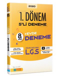 Evrensel İletişim 8. Sınıf LGS 1. Dönem Evde 5 Deneme Sınavı
