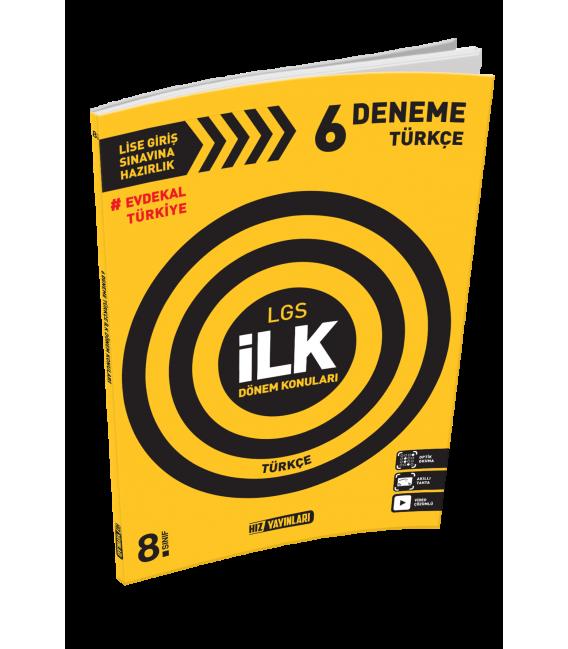 Hız Yayınları 8. Sınıf LGS İlk Dönem Türkçe 6 Deneme