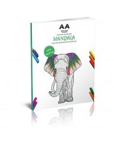 Akıllı Adam Mandala Hayvan Figürleri Çocuklar İçin Boyama Kitabı
