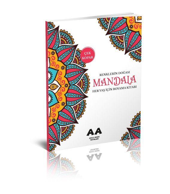 Akıllı Adam Mandala Renklerin Doğası Her Yaş İçin Boyama Kitabı