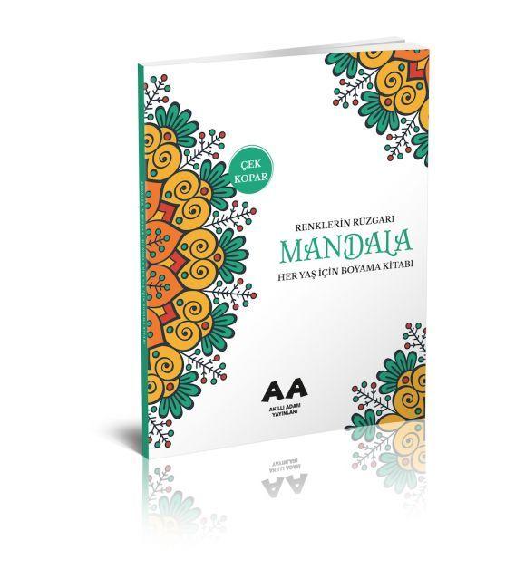 Akıllı Adam Mandala Renklerin Rüzgarı Her Yaş İçin Boyama Kitabı