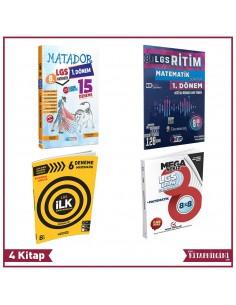 8. Sınıf LGS 1. Dönem Tekrarı Matematik Denemeleri Seti (4 Kitap) – KB815