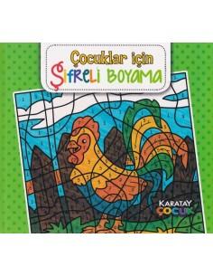 Karatay Yayınları Mandala Çocuklar İçin Şifreli Boyama