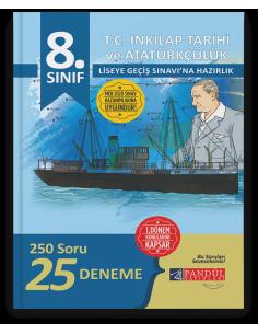 Pandül Yayınları 8. Sınıf LGS 1. Dönem T.C İnkılap Tarihi 24 Deneme