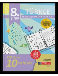 Pandül Yayınları 8. Sınıf LGS 1. Dönem Türkçe 10 Deneme