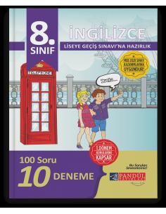 Pandül Yayınları 8. Sınıf LGS 1. Dönem İngilizce 10 Deneme