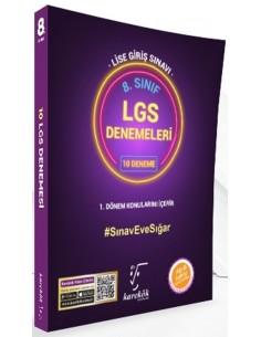Karekök Yayınları 8. Sınıf LGS 1. Dönem 10 Mor Deneme