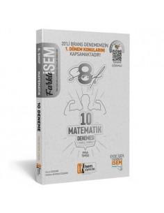 İsem Yayıncılık 8. Sınıf LGS 1. Dönem Matematik 10 Deneme