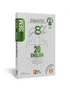 İsem Yayıncılık 8. Sınıf LGS 1. Dönem İngilizce 20 Deneme